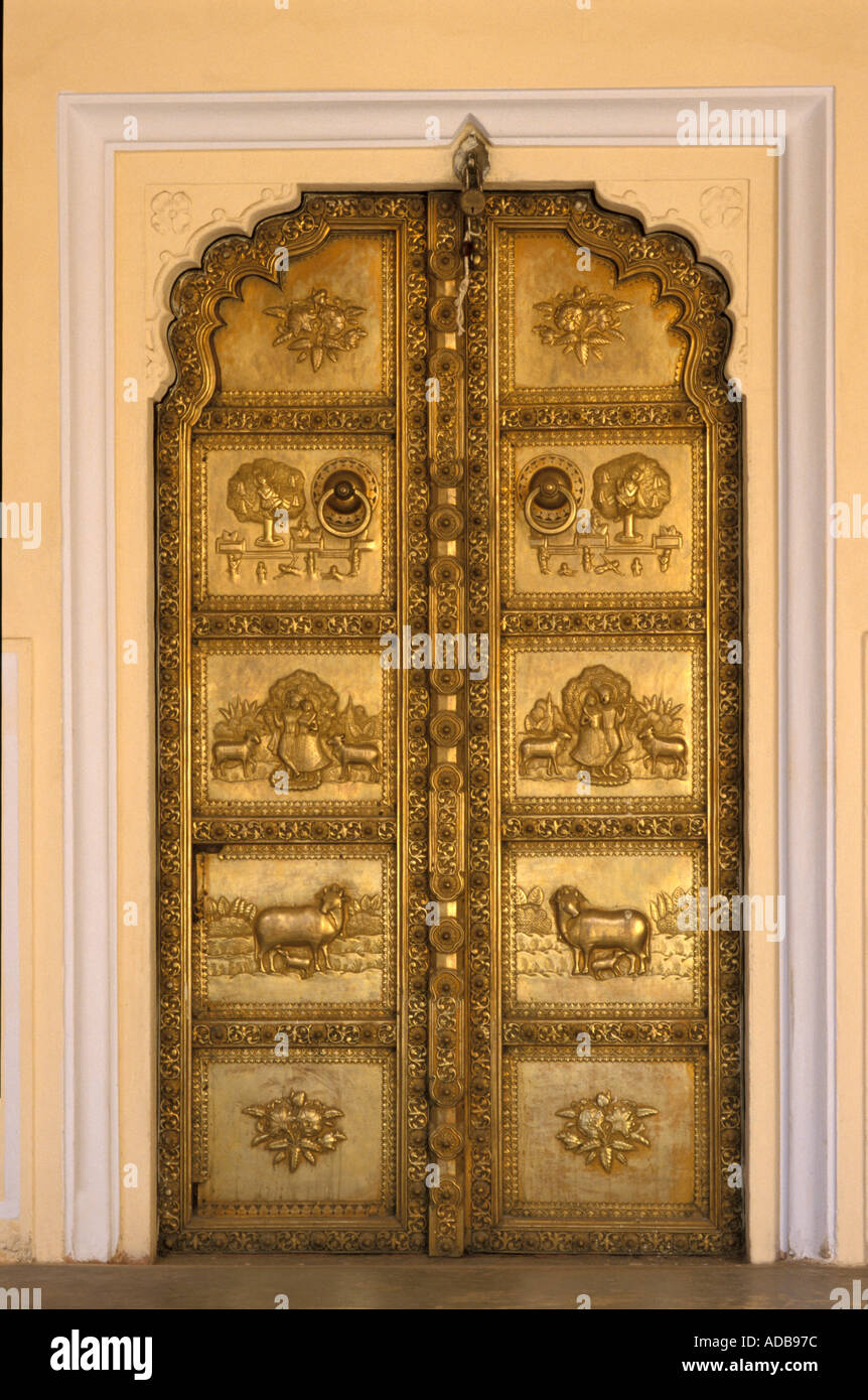 Pvc kitchen cabinet in hyderabad telangana india indiamart - India The City Palace In Jaipur Rajasthan One Of The Many Doors In The Pink Palace This One Is Brass Details
