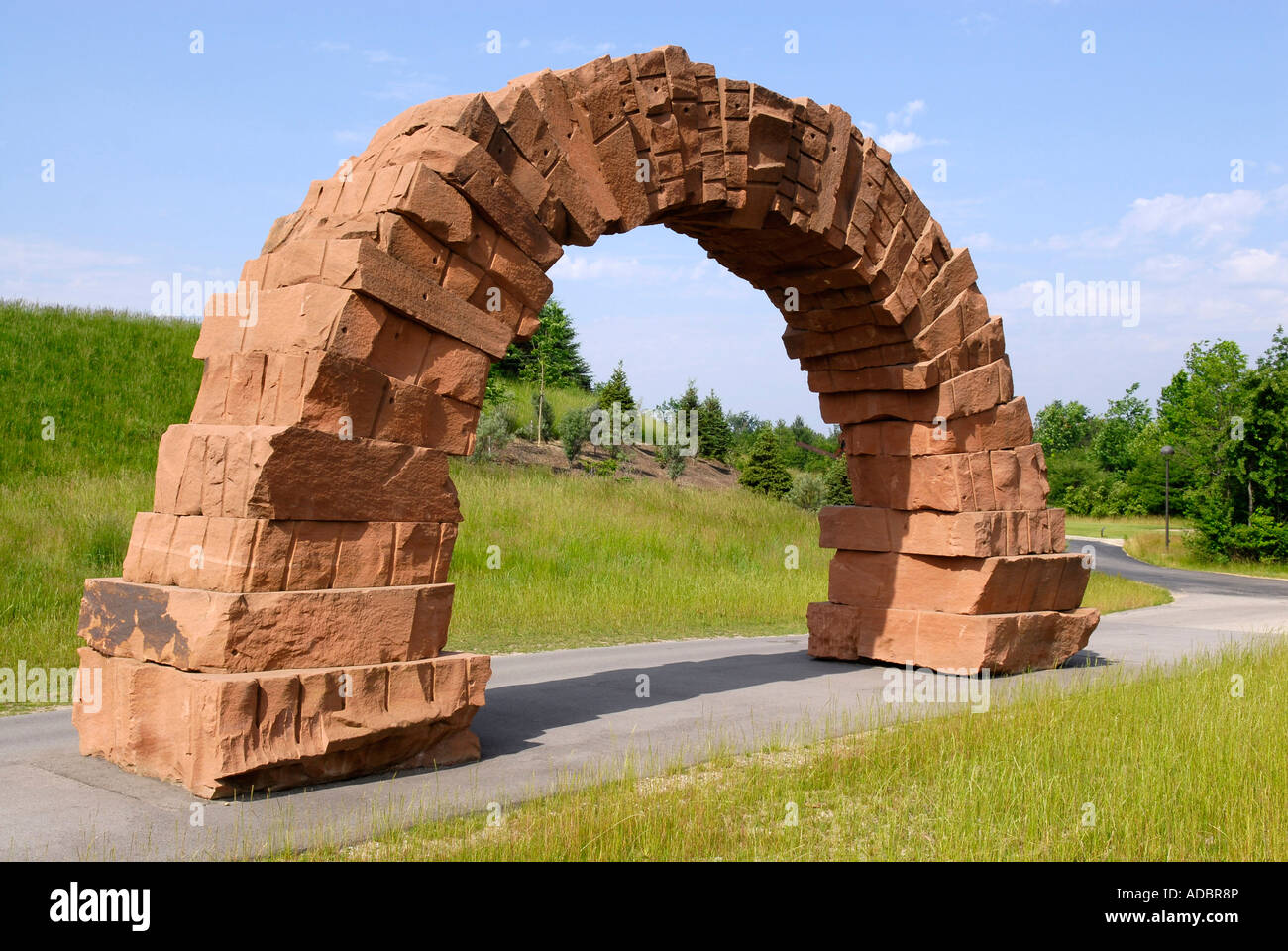 Grand rapids arch by andy goldsworthy at the frederik Meijer gardens grand rapids michigan