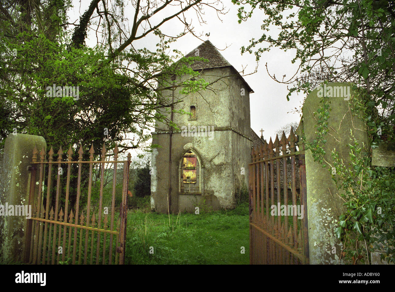 Abandoned Church an abandoned church in newington gloucestershire uk stock photo