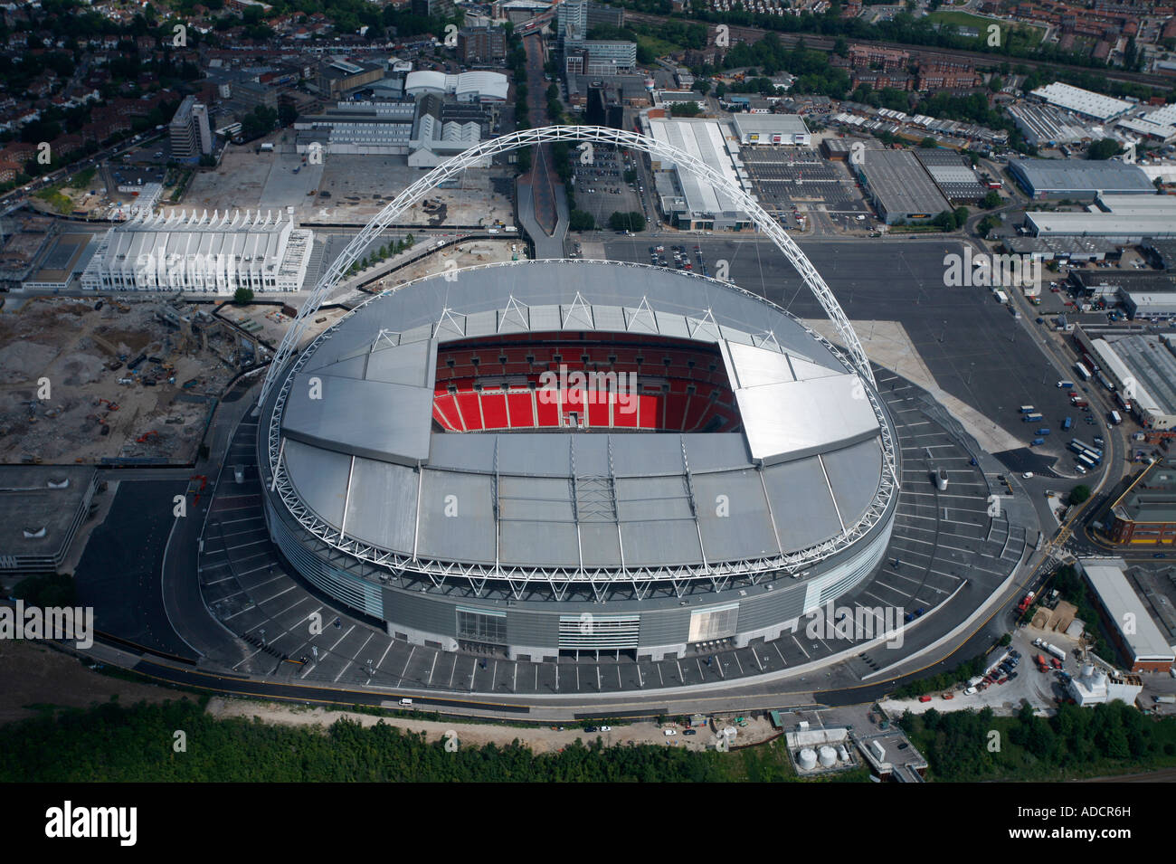 aerial view of the new wembley stadium north west london. Black Bedroom Furniture Sets. Home Design Ideas