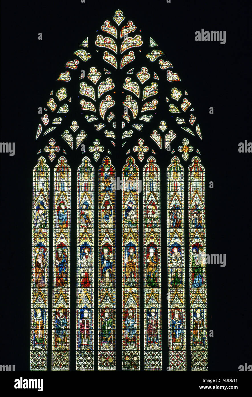 Stained glass window at york minster cathedral york for West window york minster