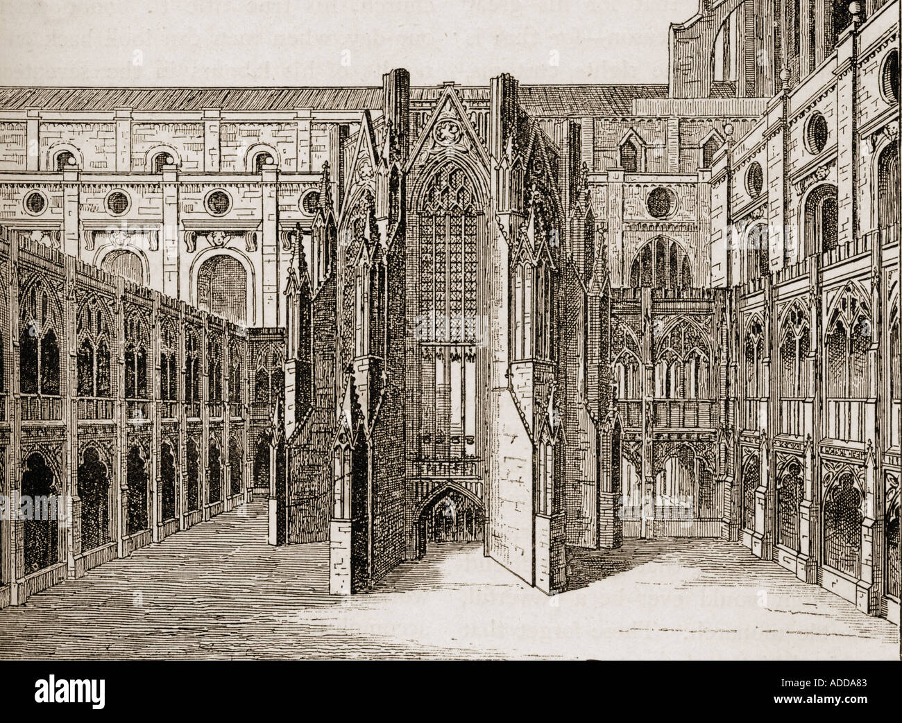The chapter house old st paul s cathedral london england for Classic house old street london