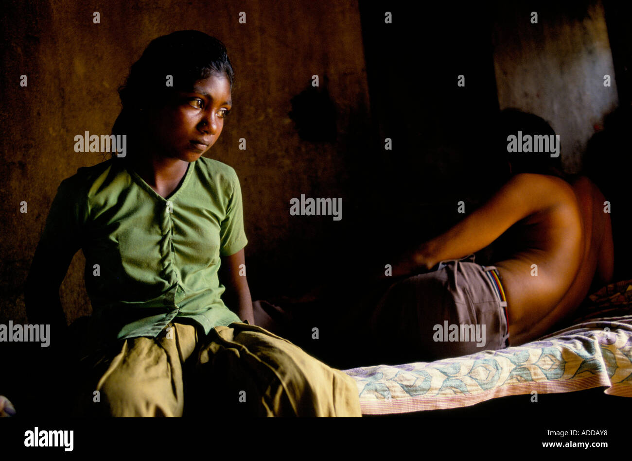 Rani 14, child prostitute, with a client