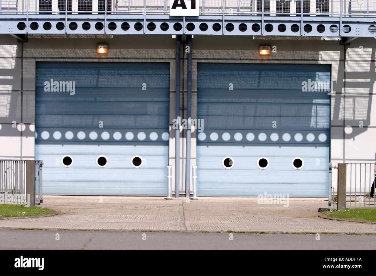 Aircraft hangar doors Stock Photo, Royalty Free Image: 4369689 - Alamy