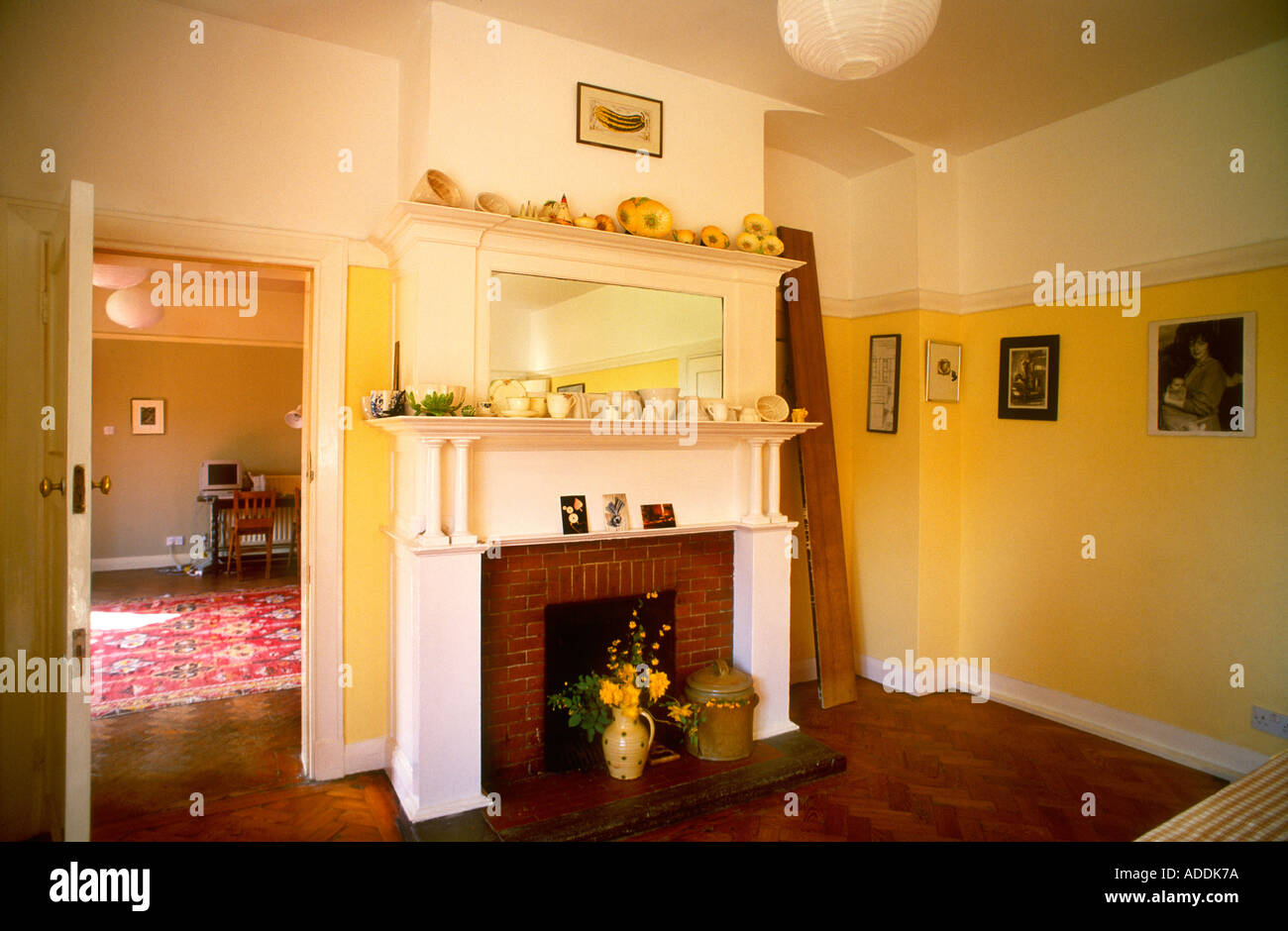 Warm Coloured Dining Room With Fireplace Designed By Charles Voysey Edwardian Period 1901 South London