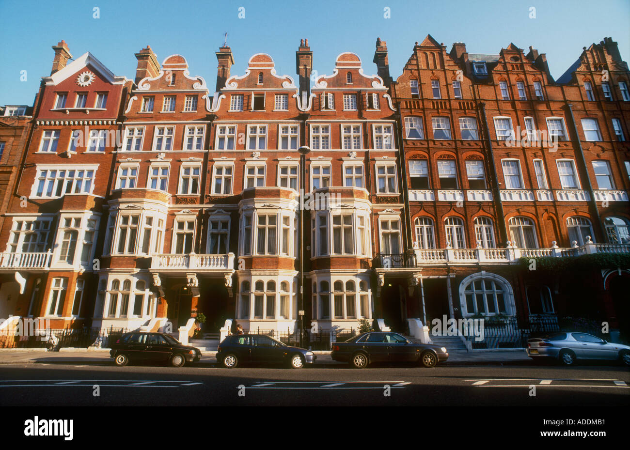 queen anne style houses london stock photos queen anne style wealthy 1860 s high victorian terraced houses in queen anne style london sw1 stock image