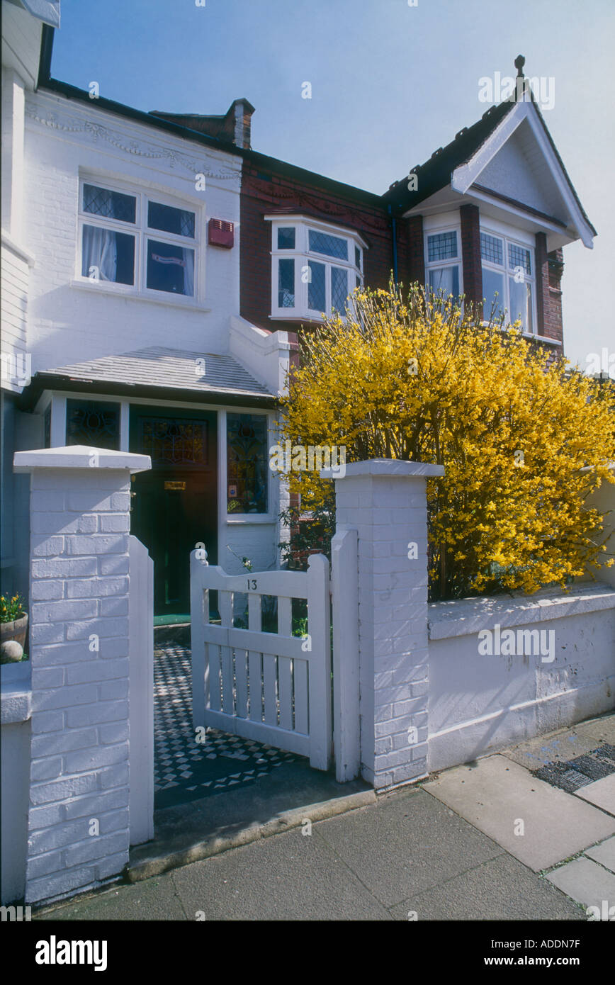 Front Gate Edwardian House West London Stock Photo