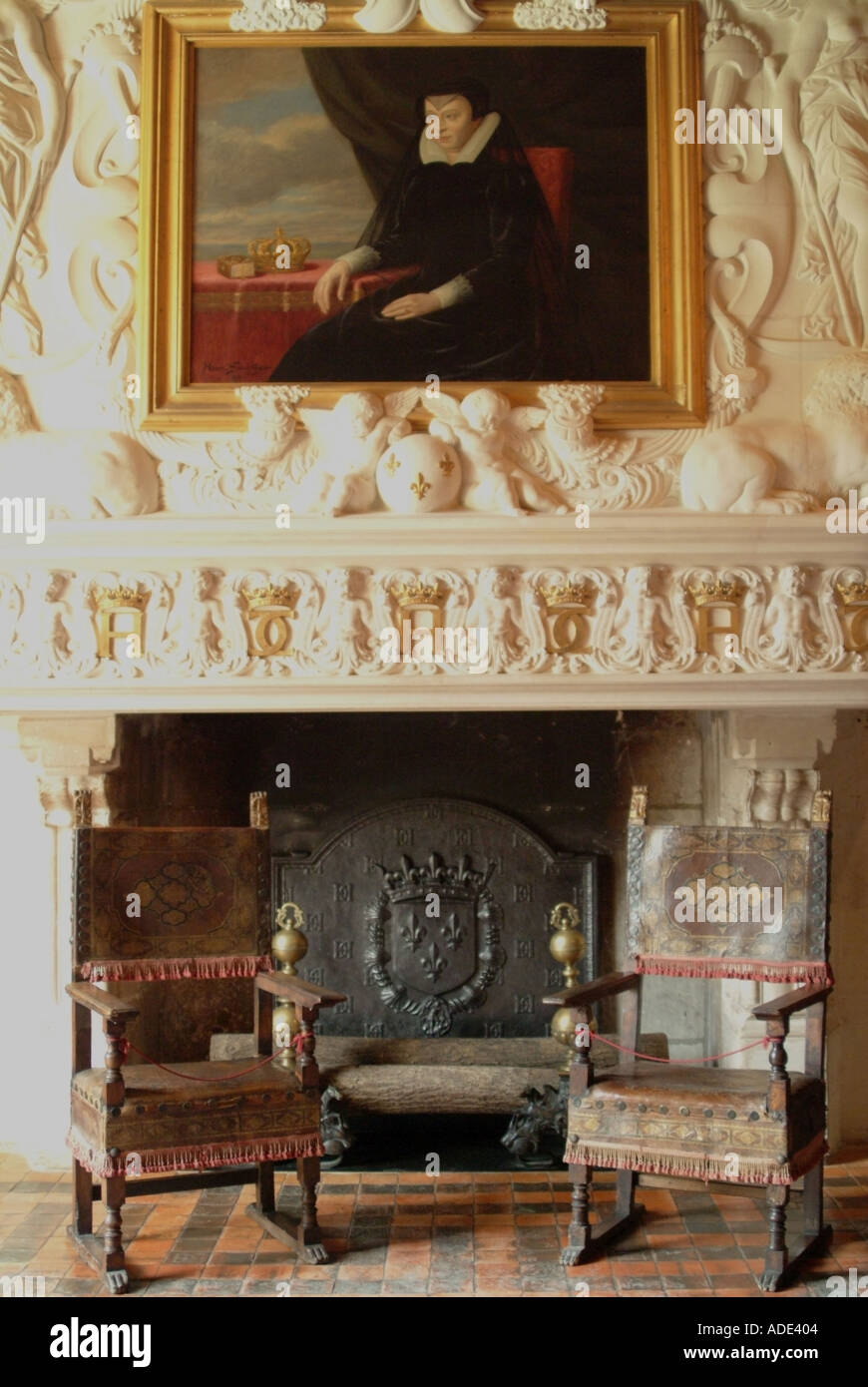 france chateau chenonceau interior Stock Photo, Royalty Free Image ...