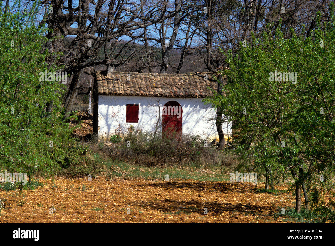 typical small cottage in provence france stock photo royalty free