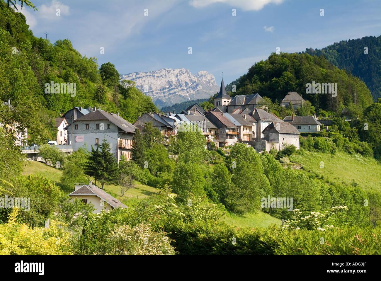 France Savoie Bauges National Park Le Chatelard Stock