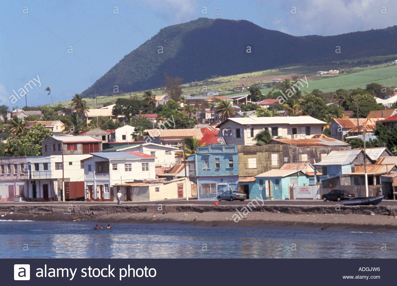 Stock photo the capital city basseterre saint kitts and nevis leeward islands caribbean islands central america atlantic ocean