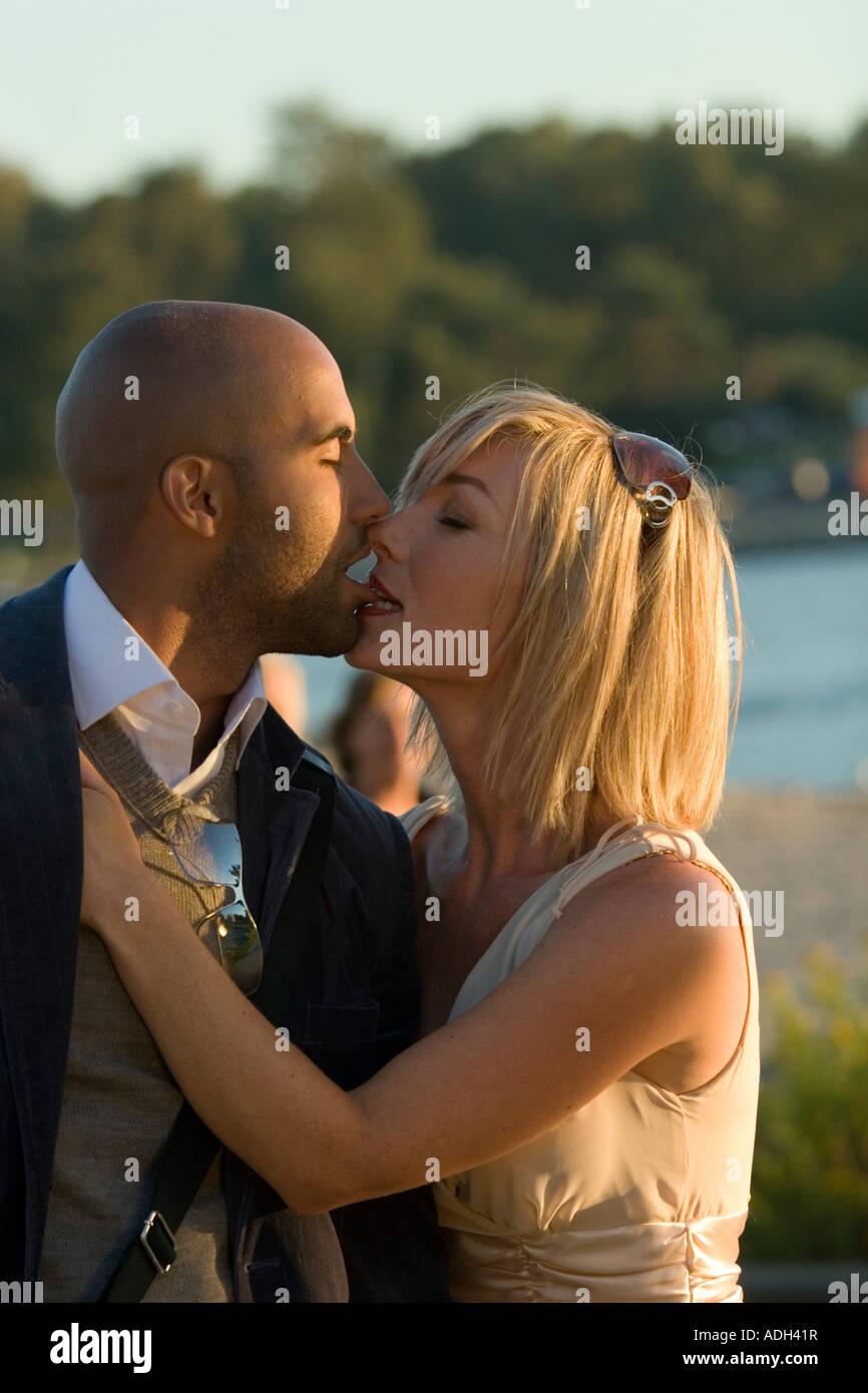 Interracial love story photo