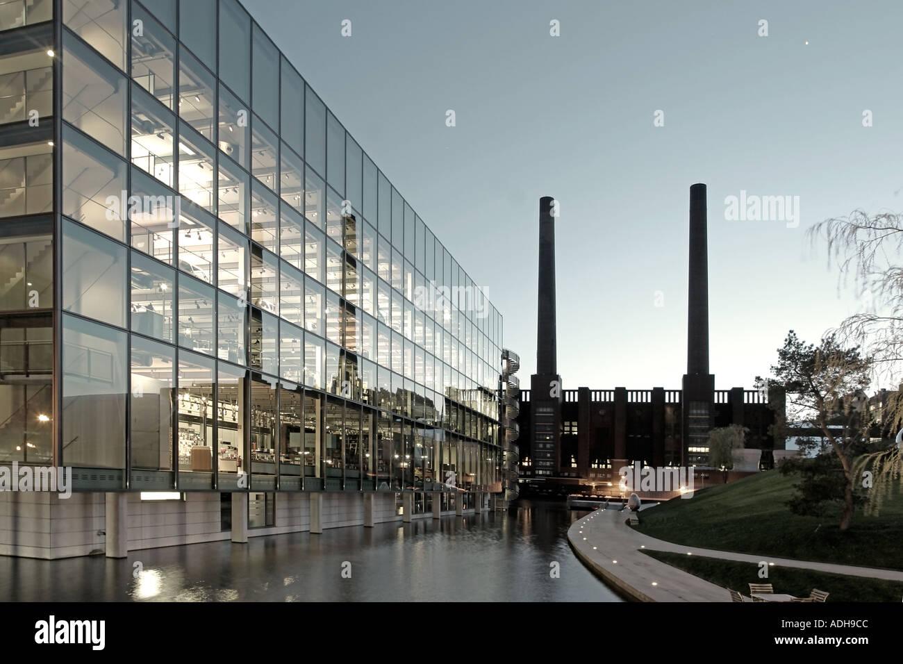 Modern Architecture Germany germany wolfsburg autostadt car city of volkswagen ag modern stock