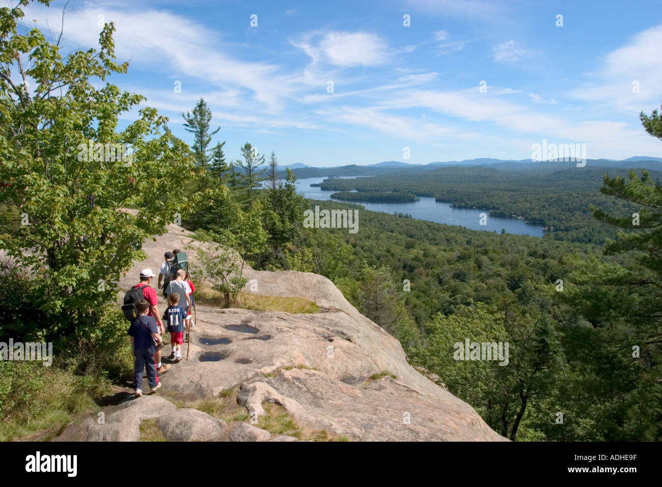 Fulton Chain Lakes From Rondaxe Bald Mountain In The Old Forge ...
