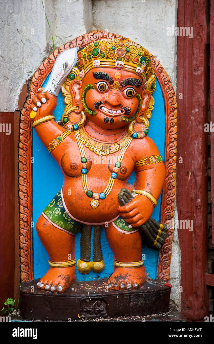 One Of The Many Beautiful Statues Of A Hindu God Around The - What country is nepal in