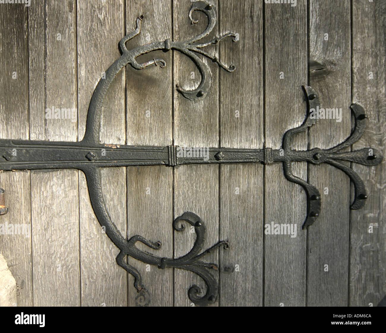 Decorative hinge on a church door at Hedon Humberside & Decorative hinge on a church door at Hedon Humberside Stock Photo ... pezcame.com