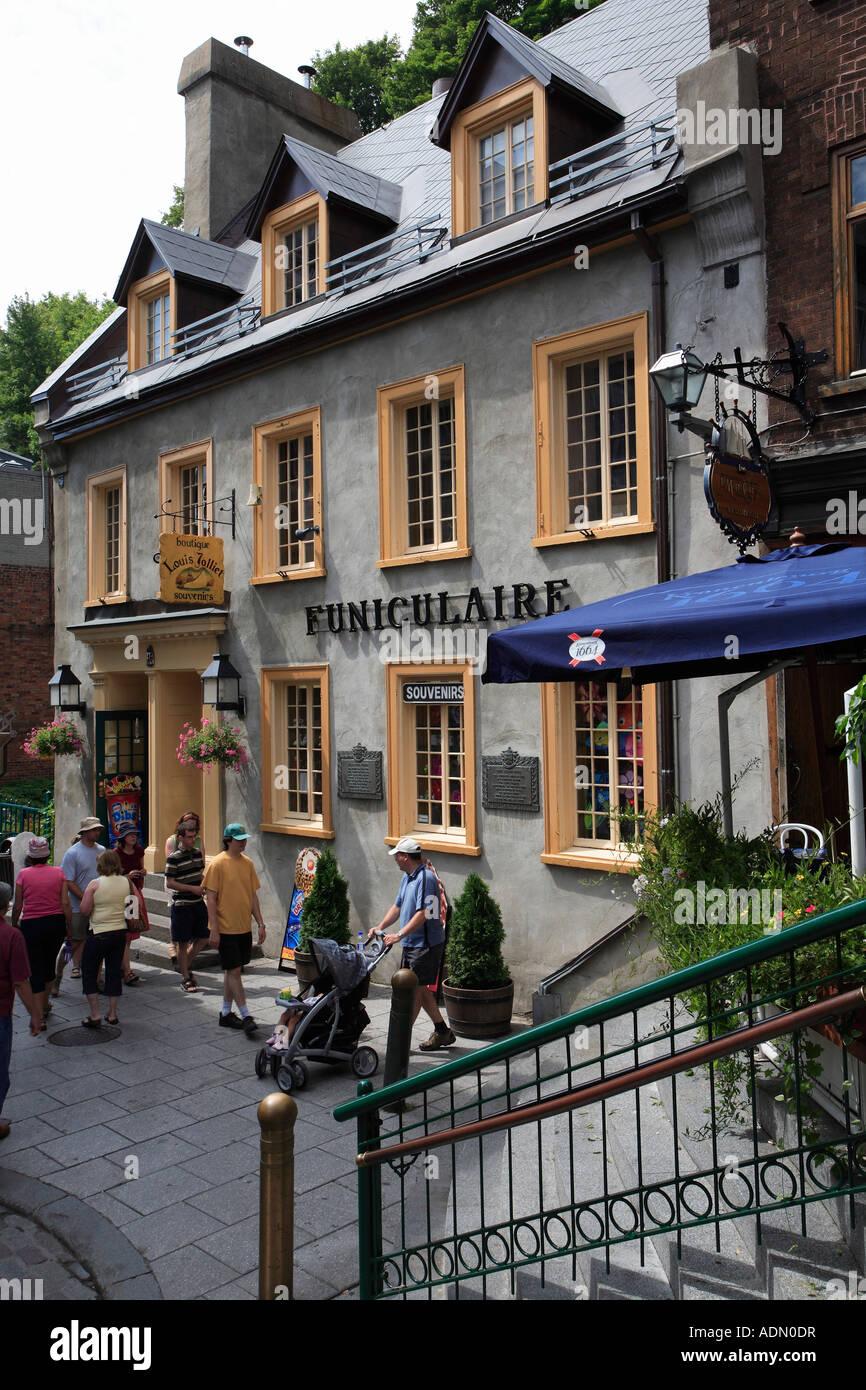 canada quebec qubec city lower town maison louis jolliet stock image - Maison Canada