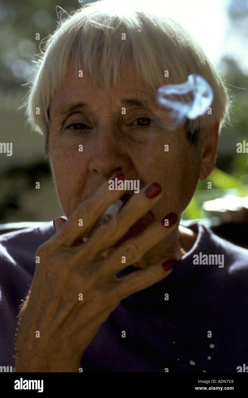 Mature Women Smoking Cigarettes