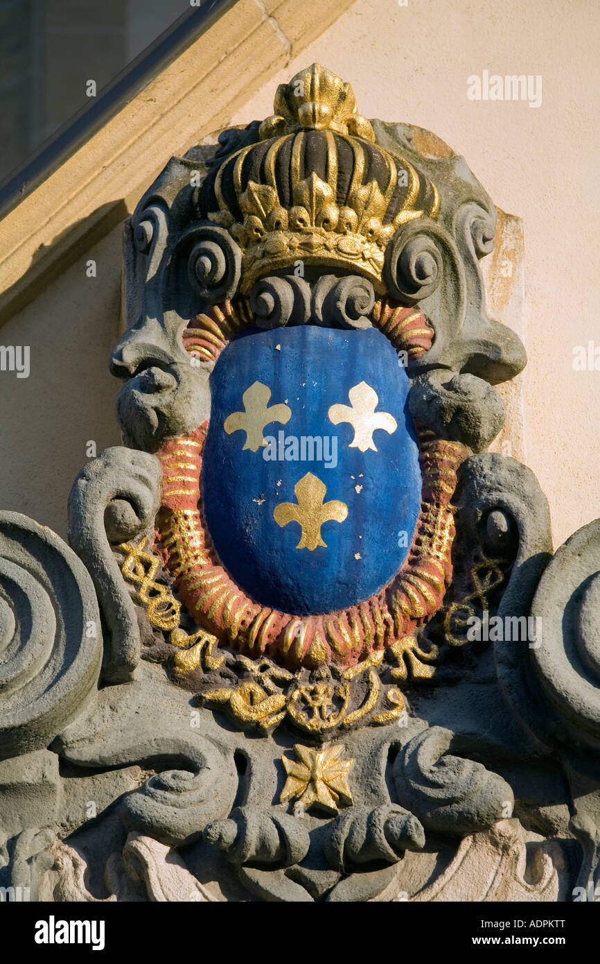 Fleur de lis symbol of kings of france on the church of st michel fleur de lis symbol of kings of france on the church of st michel louis xiv conquered city luxembourg biocorpaavc