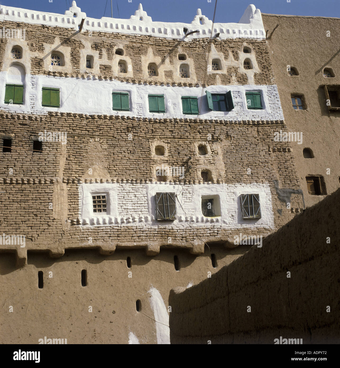 traditional house decoration sada yemen arab republic stock photo