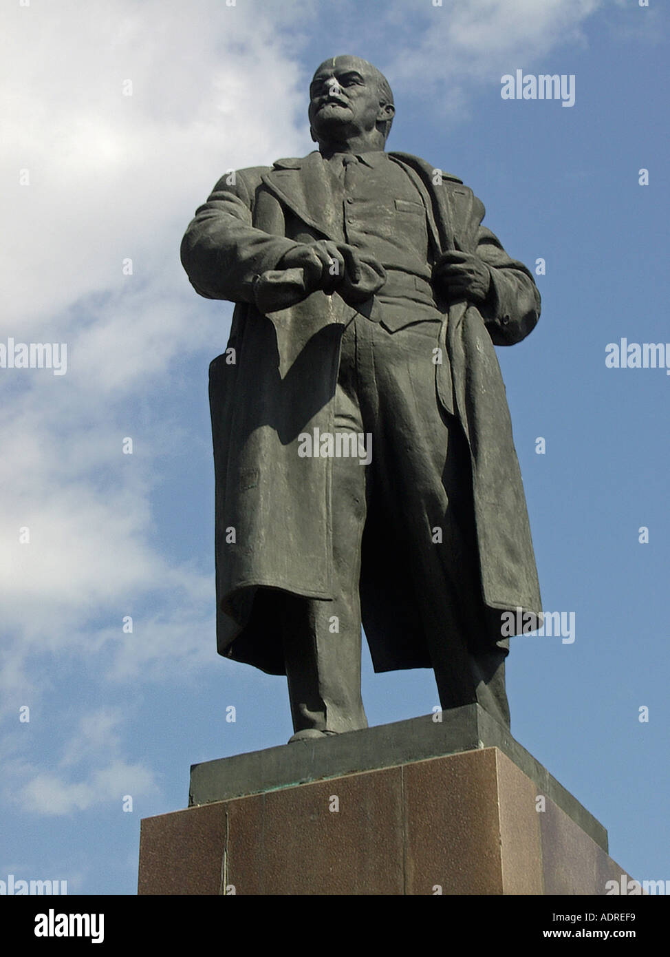 Large stone statue of former russian political leader ...