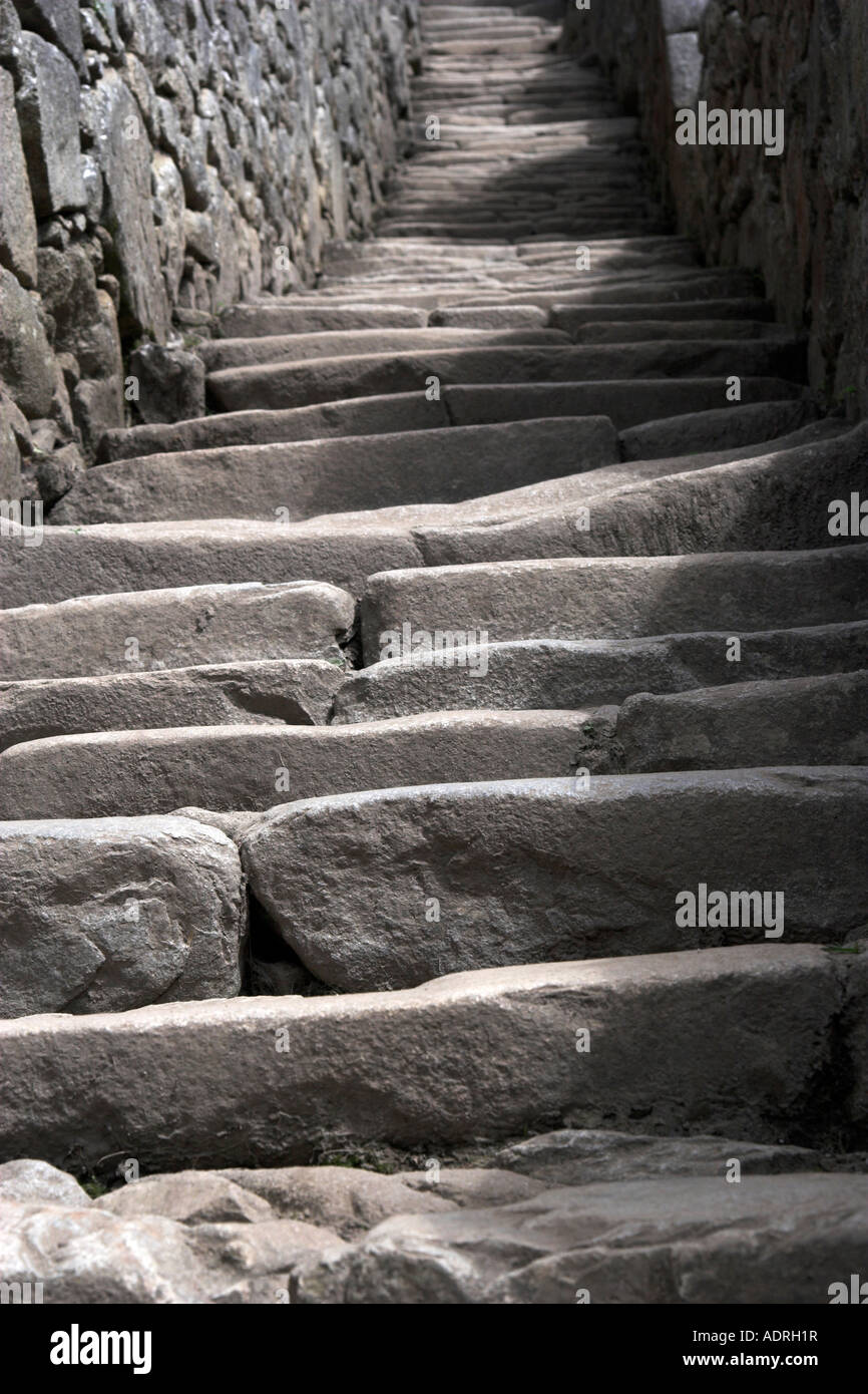 Carved Stone Steps : Inca stone steps at machu picchu quot close up detail of