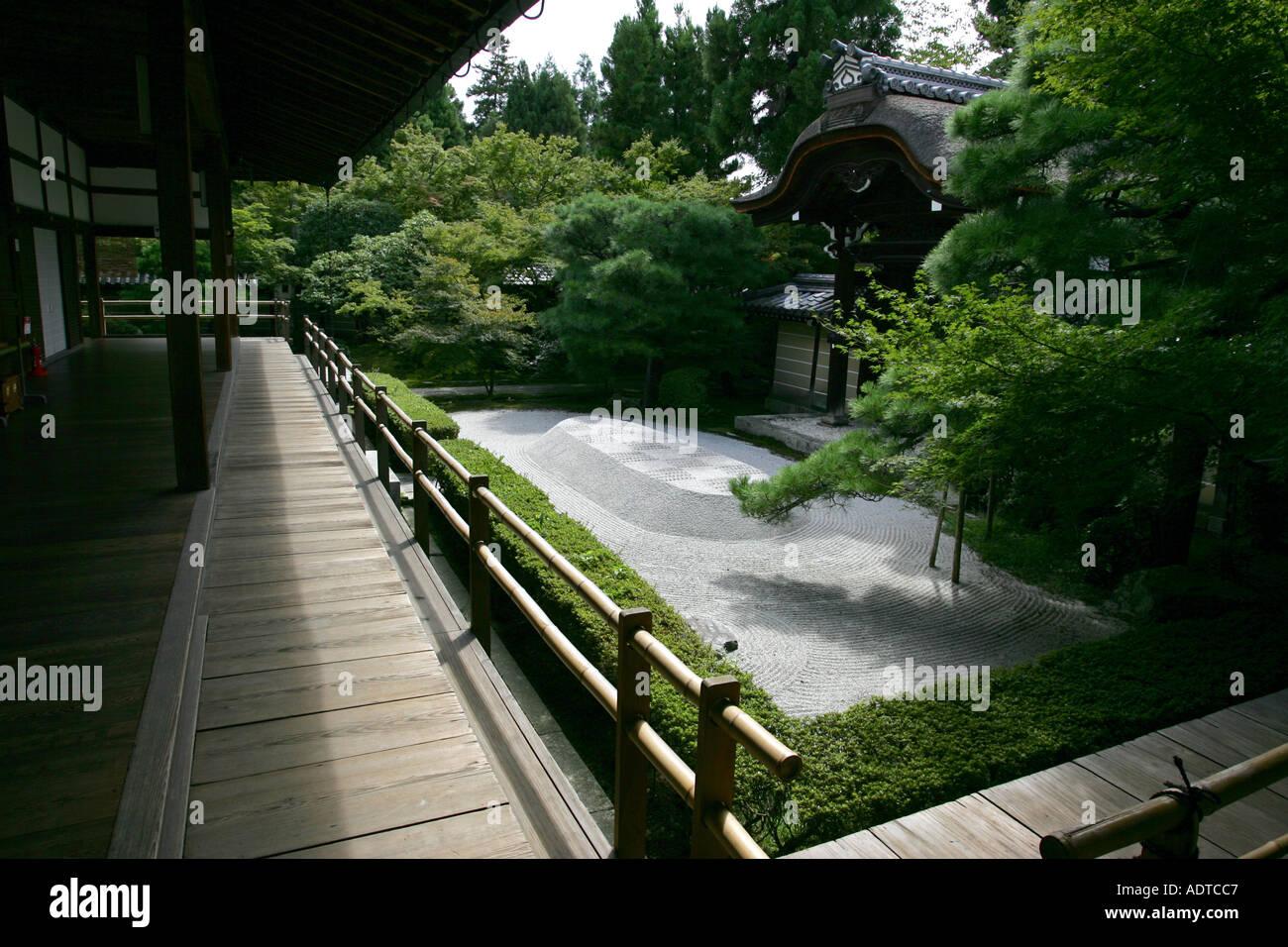 Ancient japanese zen gardens - A Small Zen Garden Inside A Temple Complex In The Ancient City Of Kyoto Kansai West Japan Asia