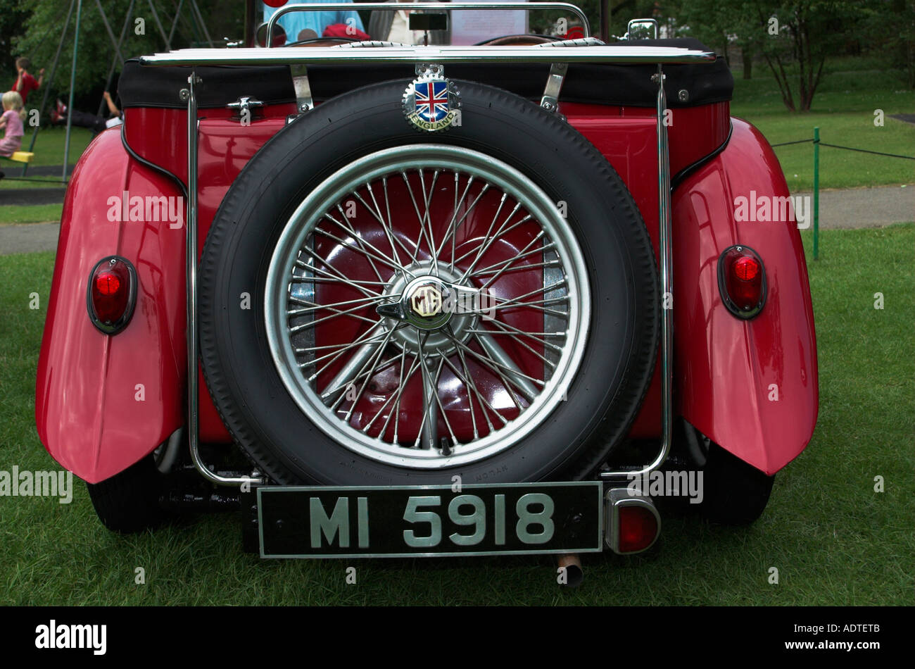 Classic M G Sports Car On Show At The Filey Festival North