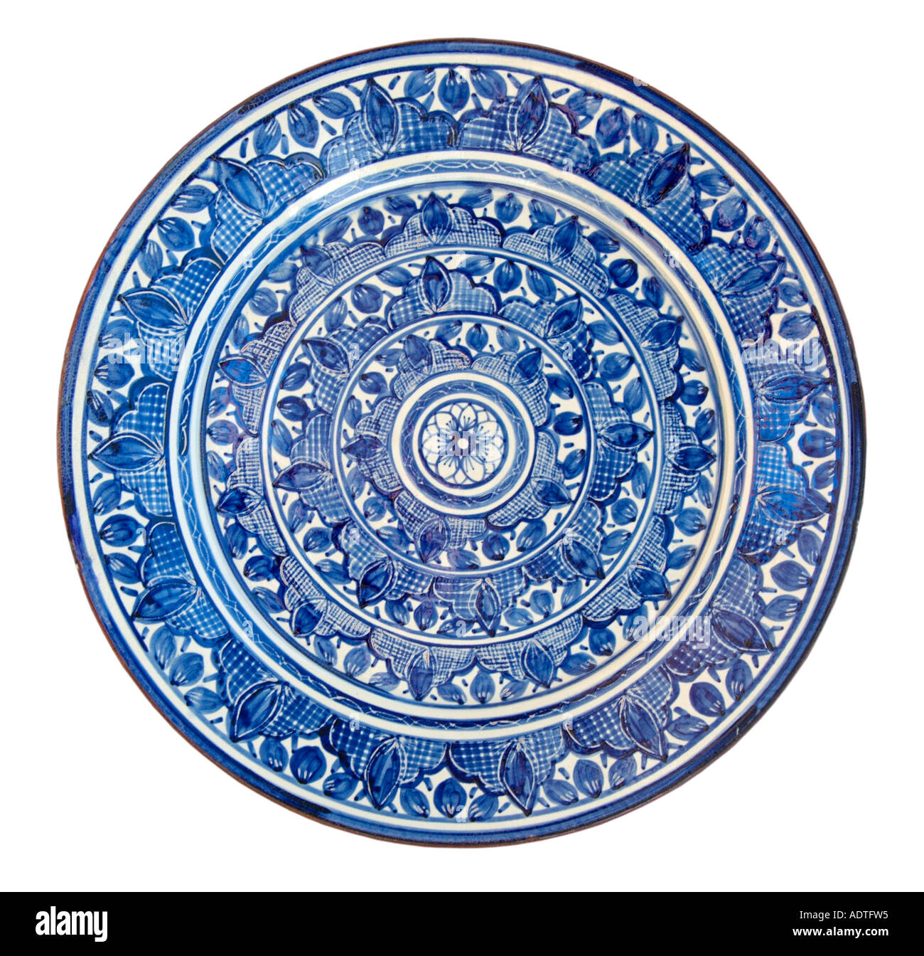 Blue Decorative Wall Plates Simple Ceramic Glazed Blue Cobalt Wall Plate Decorative Pattern Portugal Review