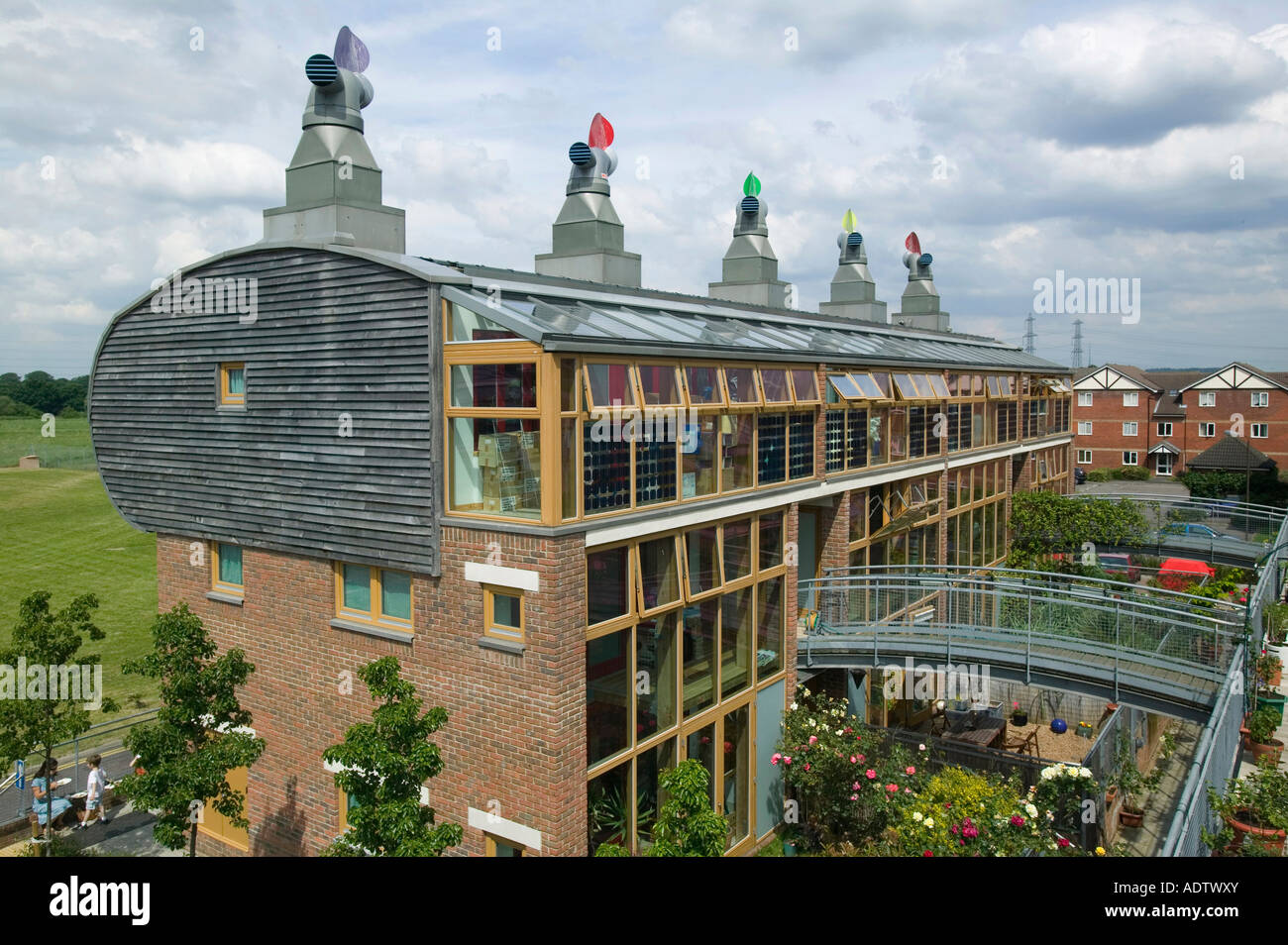 Bedzed Energy Efficient Housing Complex London UK