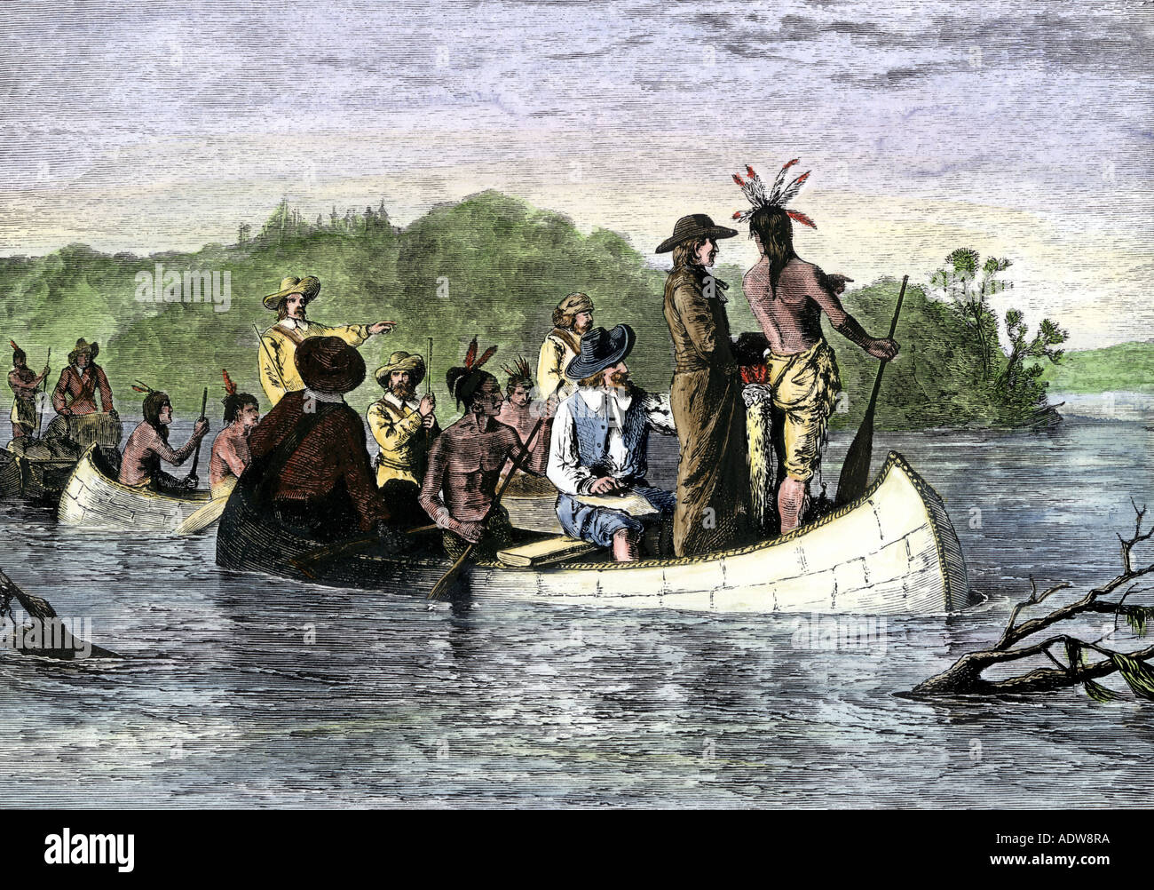 jacques marquette and louis joliet the first white men on the upper mississippi river 1673
