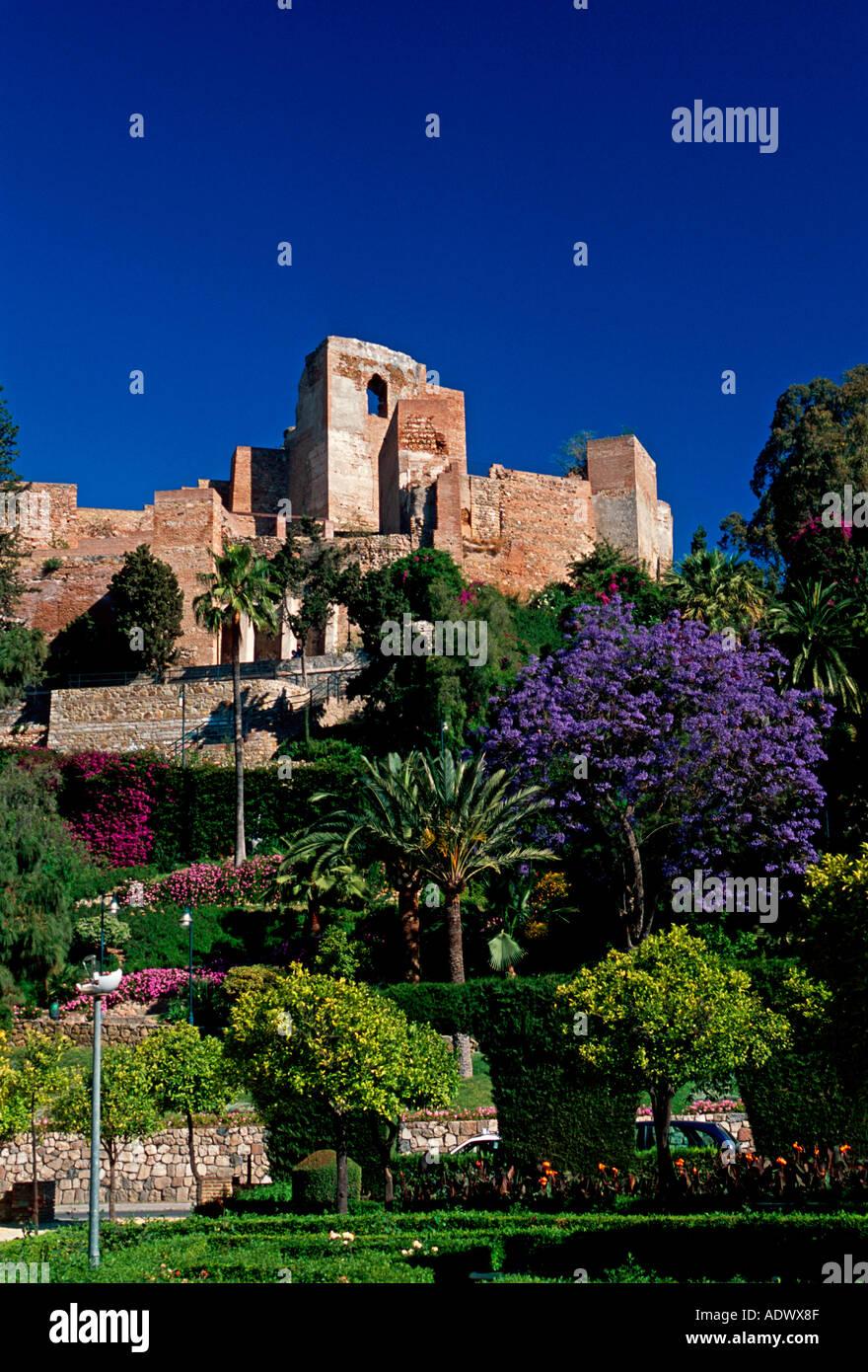 Alcazaba Kings Palace Moorish architecture Malaga Malaga Province Stock Photo...