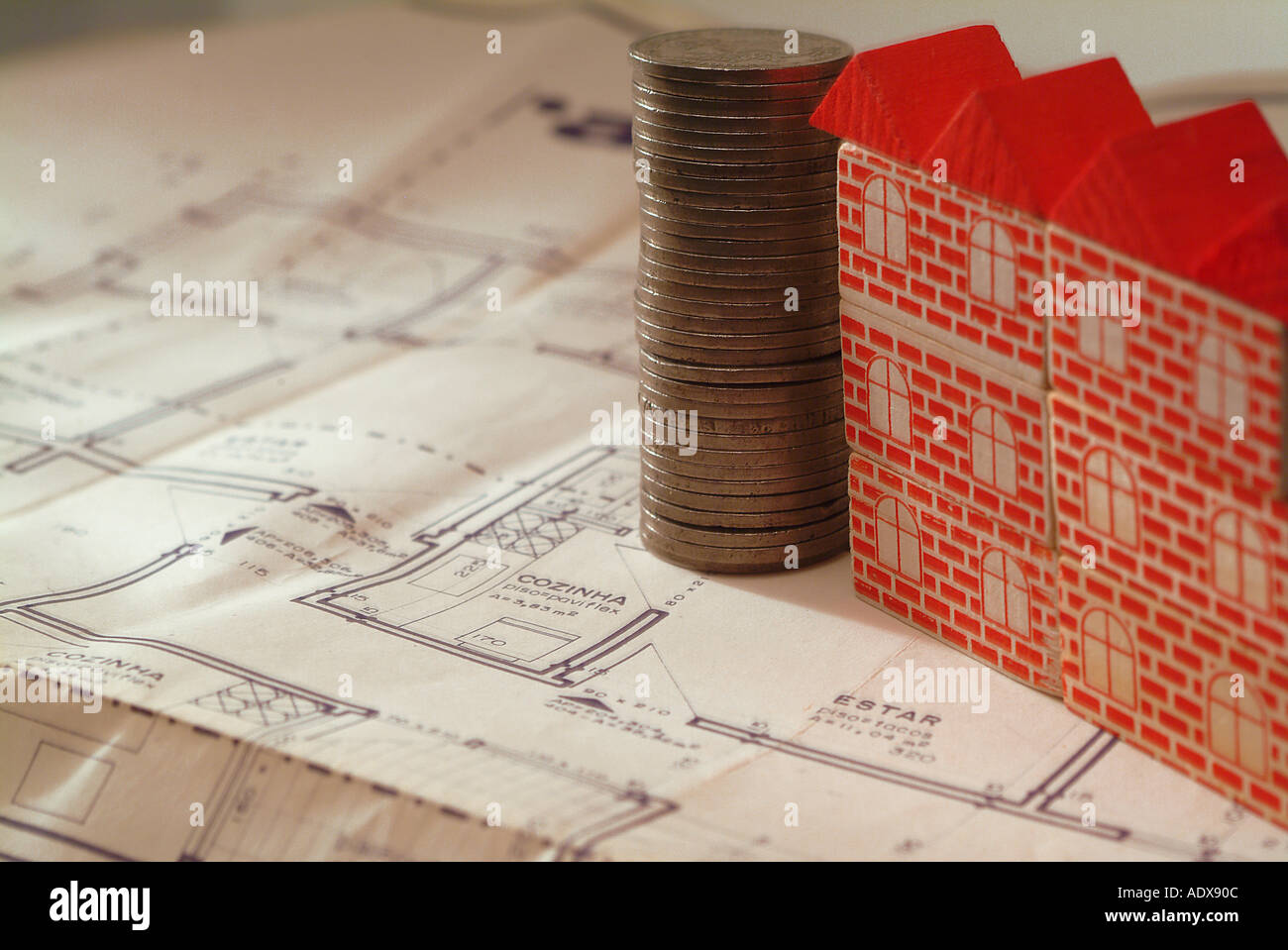 Architecture blueprint blocks toy model building red roof plan architecture blueprint blocks toy model building red roof plan scheme diagram project concept conceptual background stack pile malvernweather Image collections