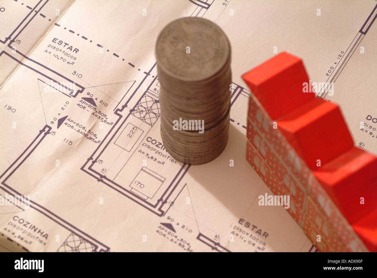 Architecture blueprint blocks toy model building red roof plan architecture blueprint blocks toy model building red roof plan scheme diagram project concept conceptual background stack pile c malvernweather Image collections