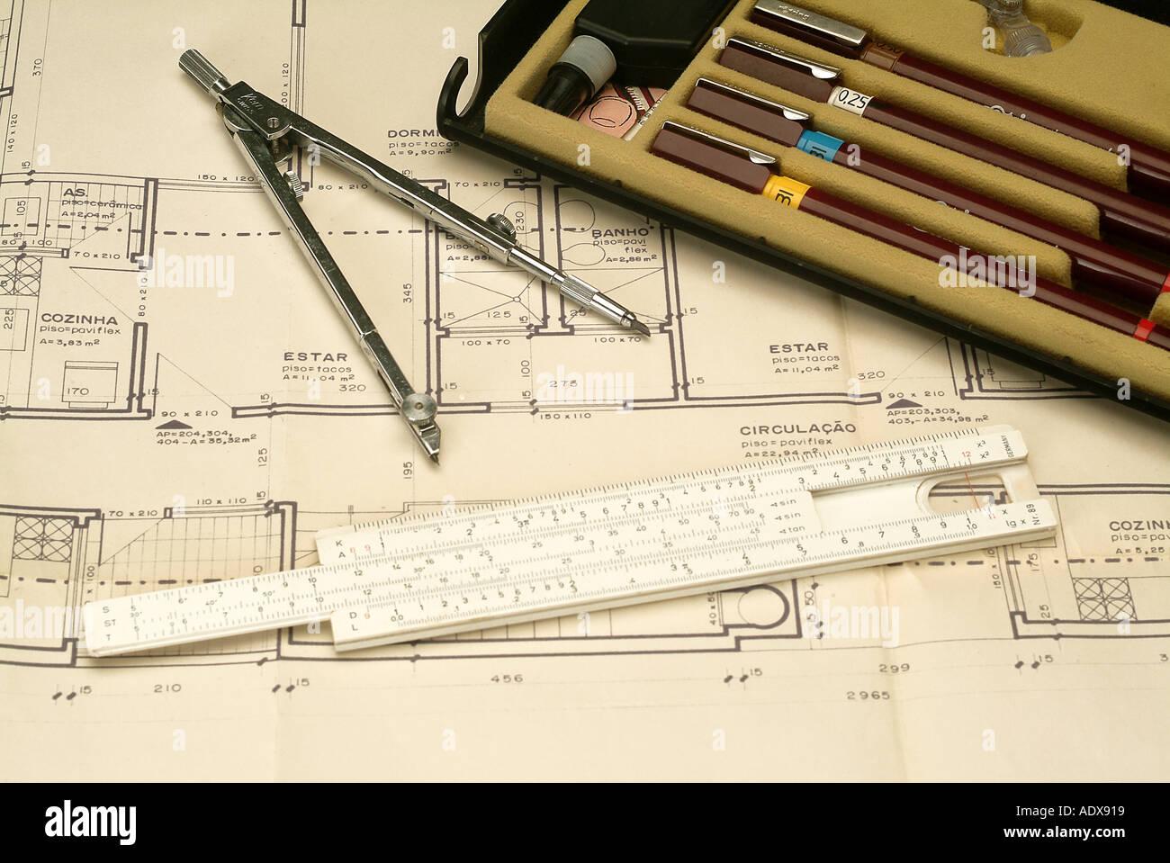 Architecture ink pens ruler concept conceptual compass blueprint architecture ink pens ruler concept conceptual compass blueprint diagram project scheme architecture malvernweather Image collections