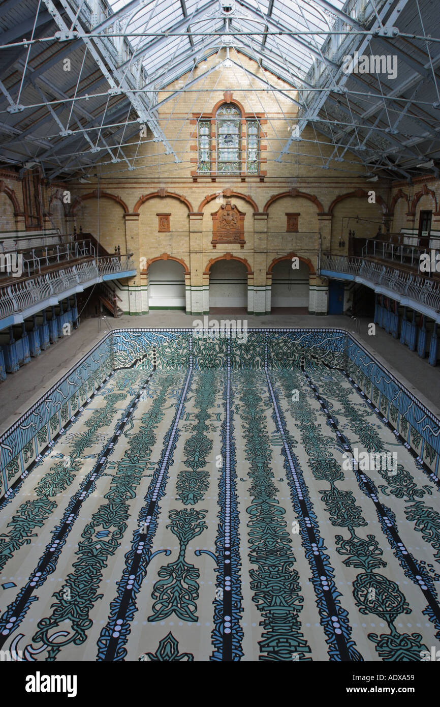 Males First Class Gala Pool Victoria Baths Hathersage Road Longsight Stock Photo Royalty Free