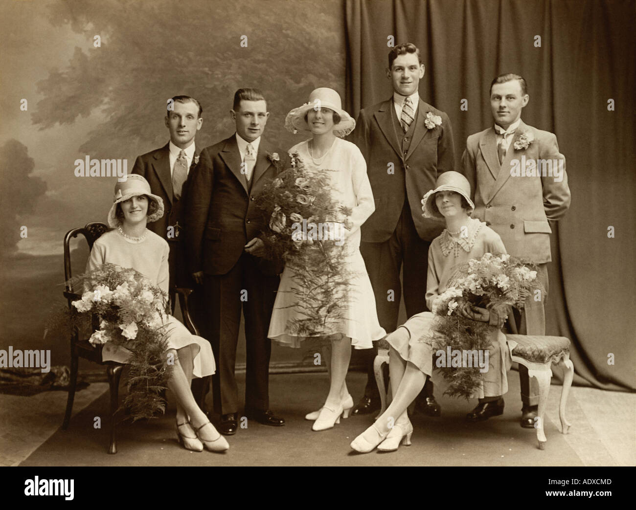 20s 1920s stock photos 20s 1920s stock images alamy 1920s wedding group with bride and groom by foulds and hibberd ltd uk stock junglespirit Gallery