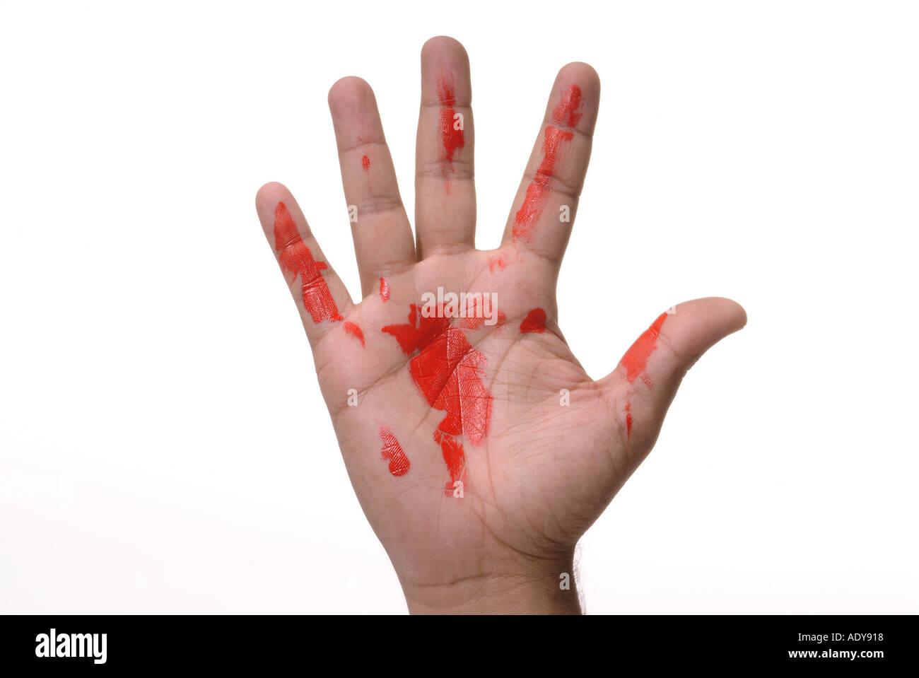 Heading your fist and open hand next door