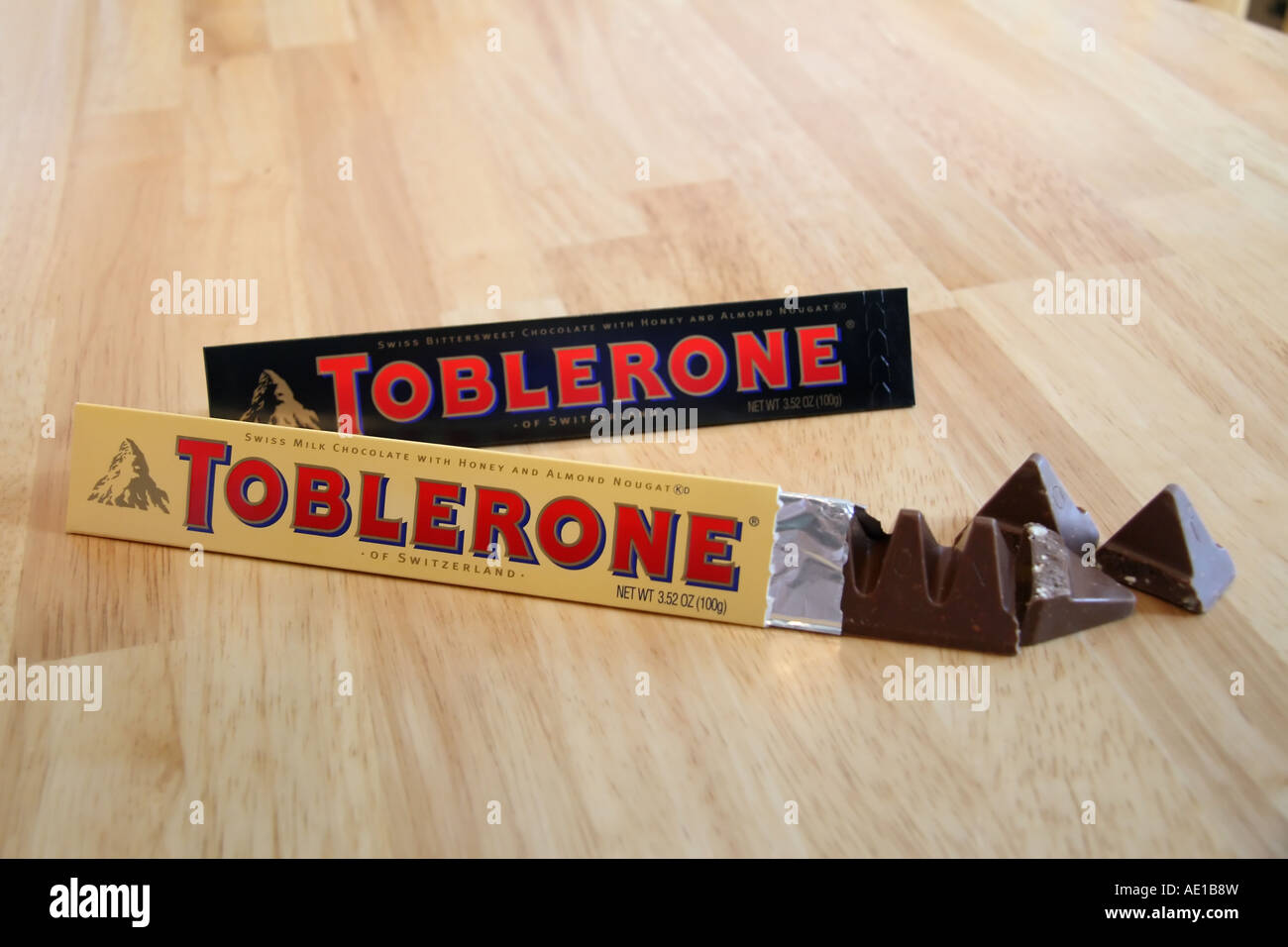 A swiss import, here in the United States, Toblerone chocolate ...