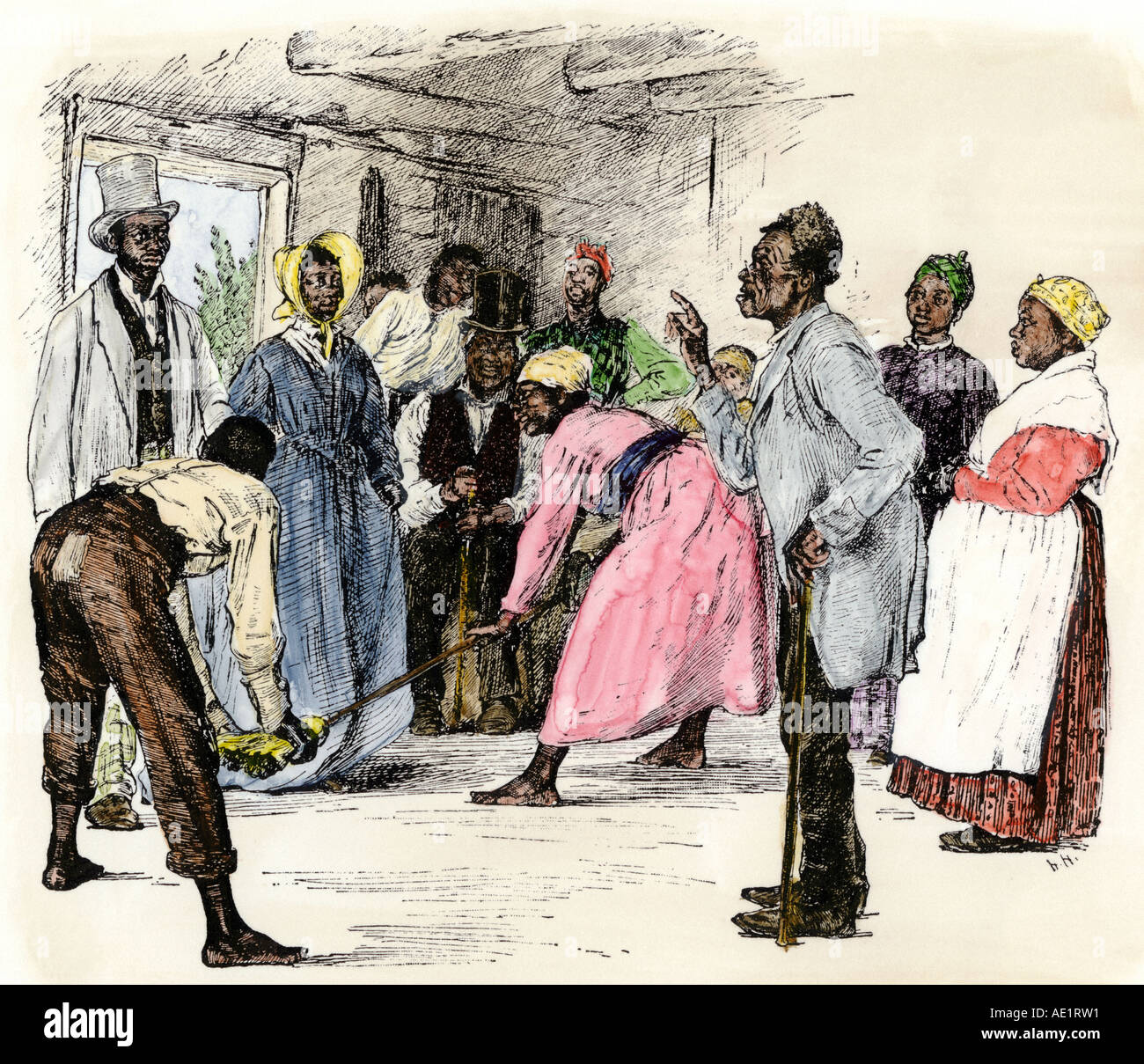Broomstick wedding ceremony of African American slaves in ...