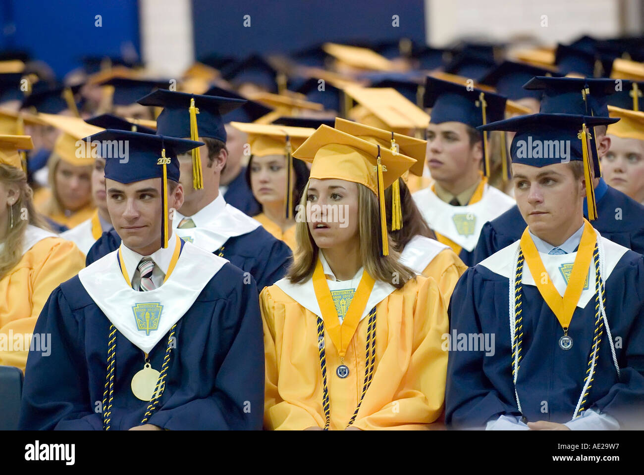 Cap And Gown Commencement High School Graduation Ceremonies At ...