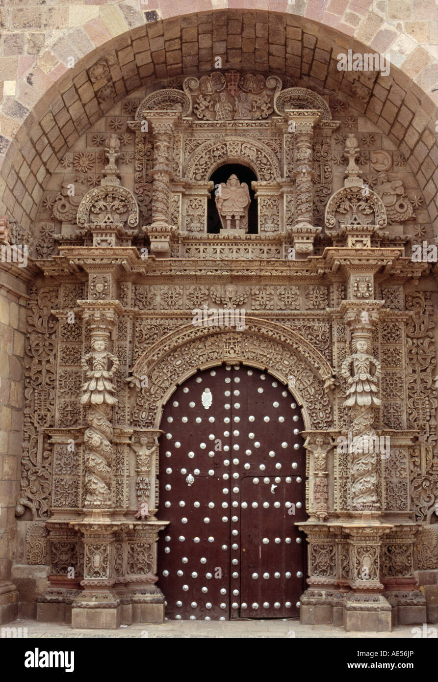 Iglesia San Lorenzo de Carangas - Potosi, Potosi, BOLIVIA Stock Photo, Royalt...