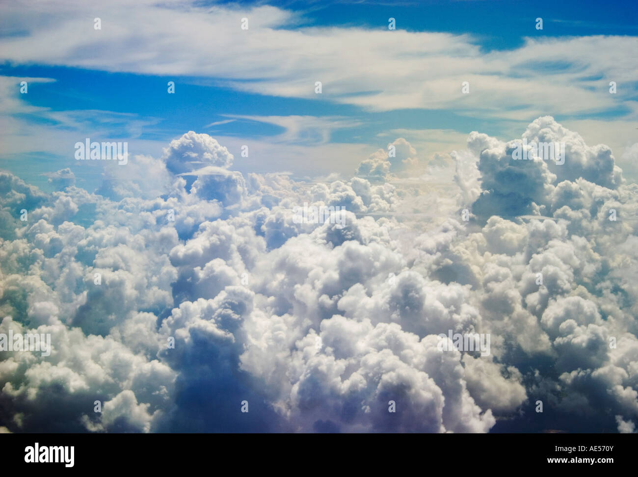 Cumulus Clouds With Stratus At Feet Above Sea Level Stock - Feet above sea level