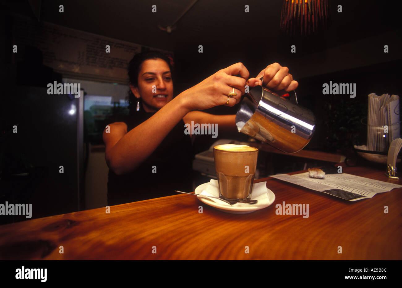 two women enjoy coffee at the organic kitchen brisbane queensland