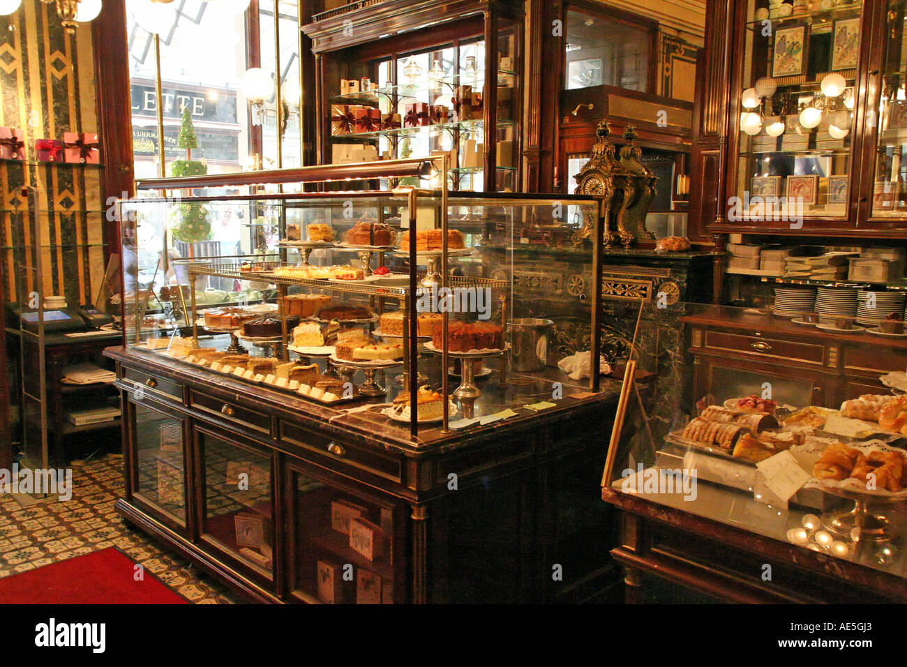 Cafe Demel Kohlmarkt Interior Austria Vienna Stock Photo
