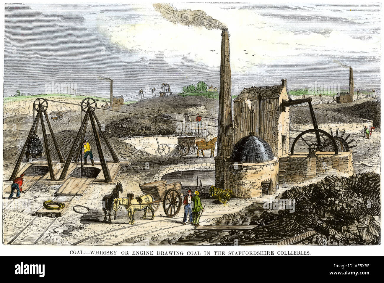 Whimsey Engine Drawing Coal In The Staffordshire Mines England S Ae Xbf