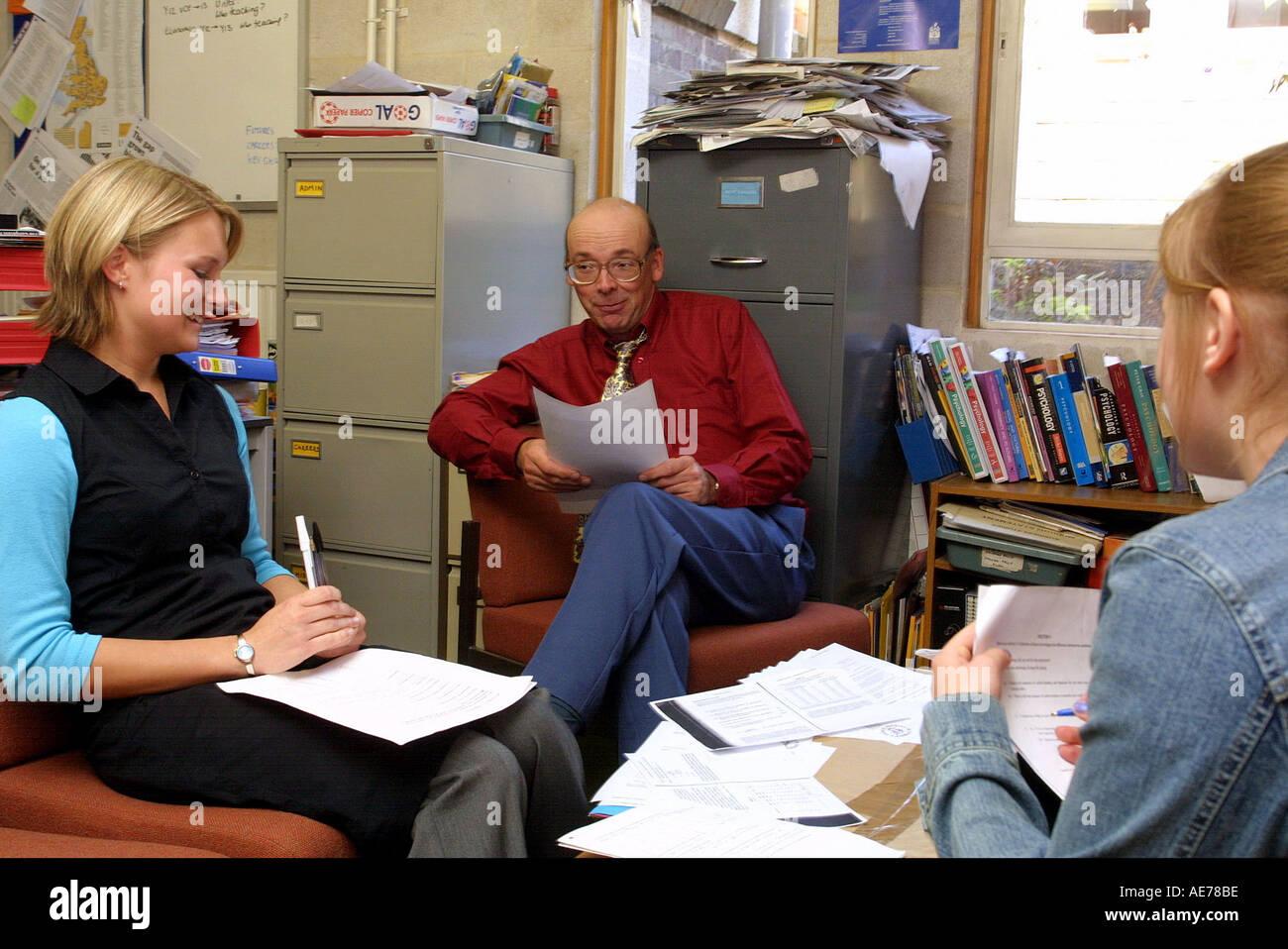 secondary school children in interview scenario stock photo secondary school children in interview scenario
