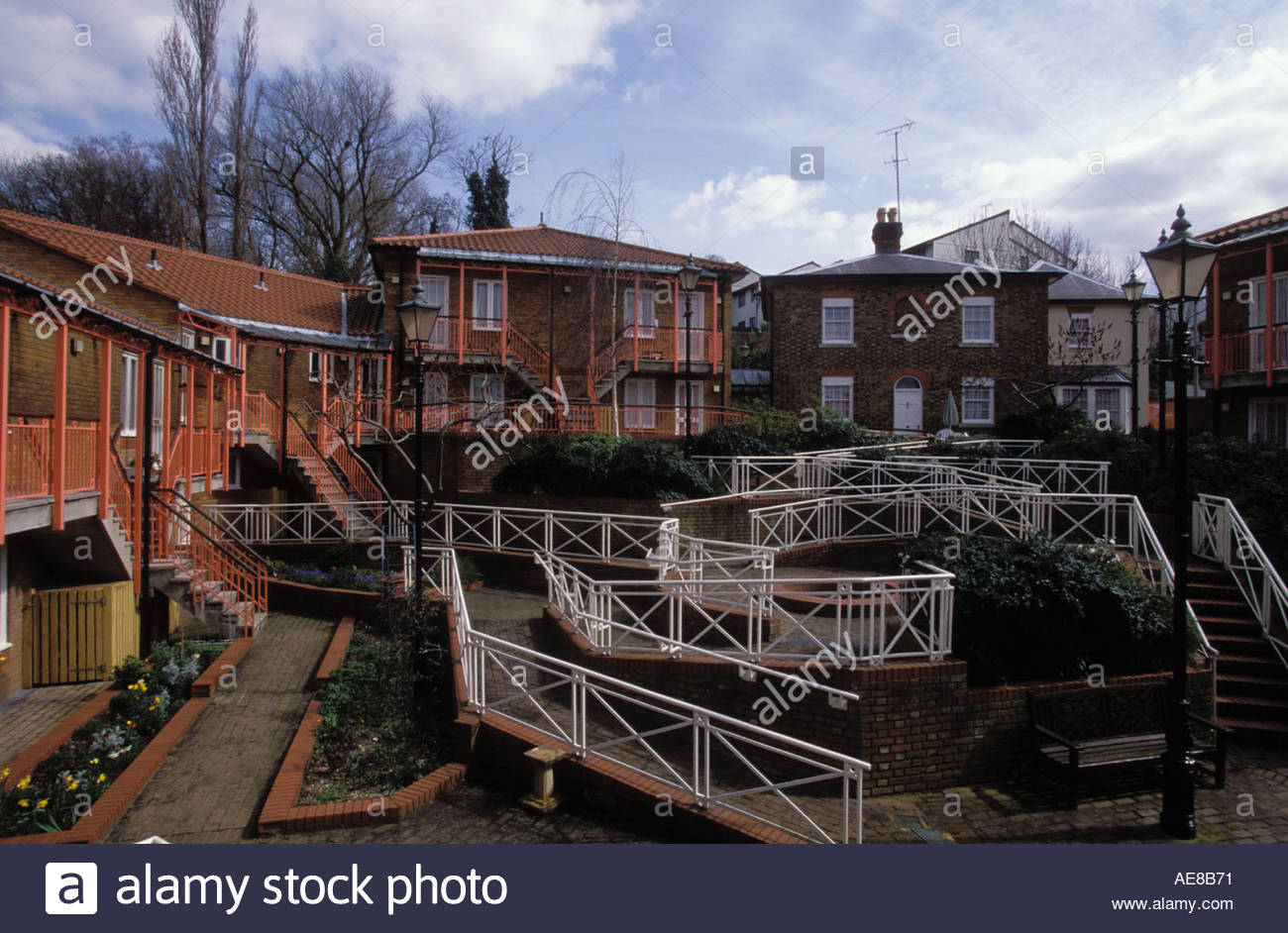 Council sheltered housing for the elderly with wheelchair for Handicapped housing