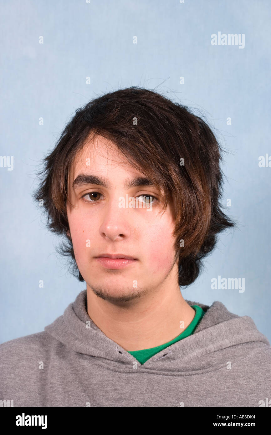 Portrait Of 17 Year Old Teenage Boy With Alternative Hair