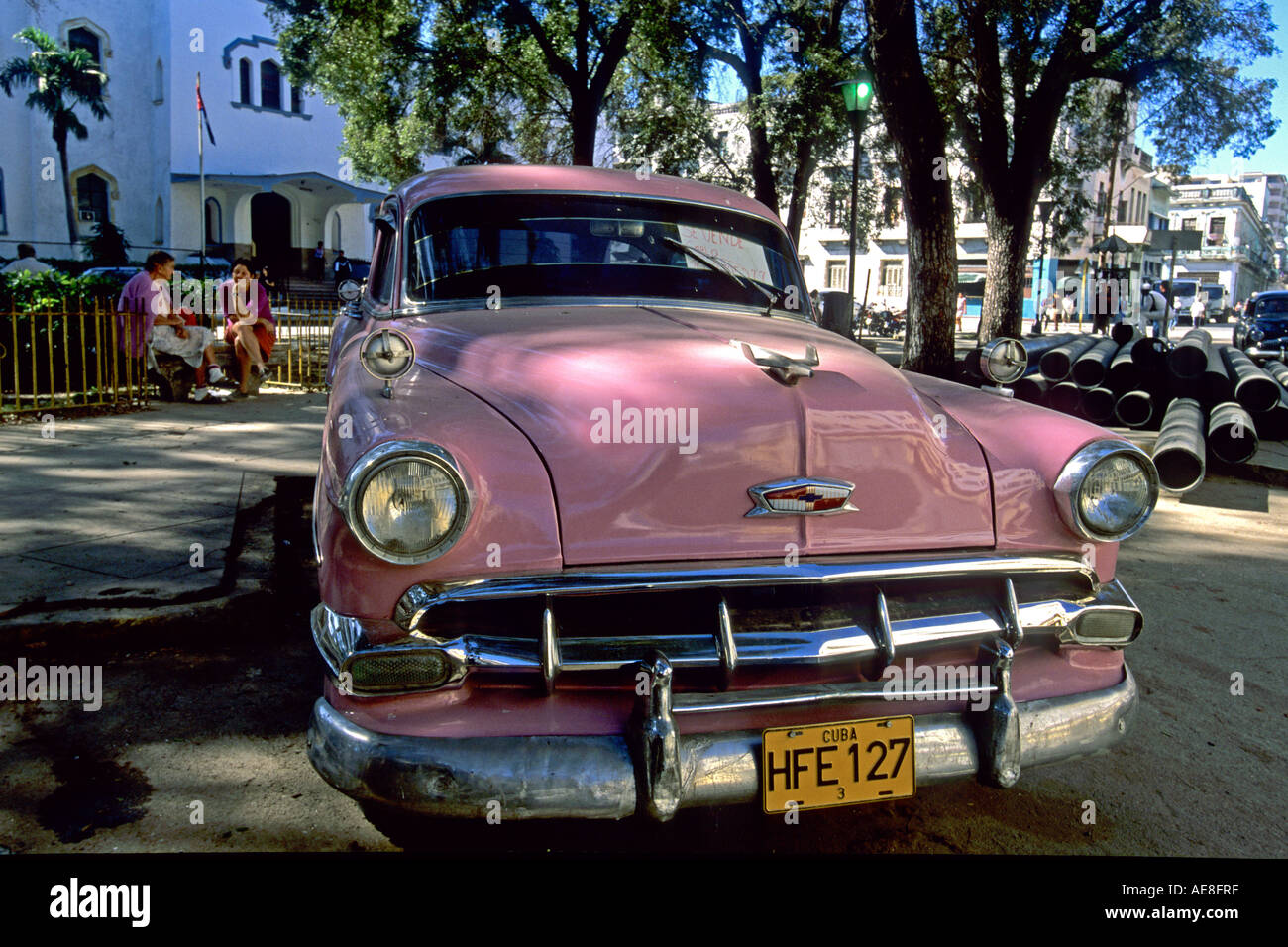 Old American car for sale Havana Cuba Stock Photo: 7773118 - Alamy